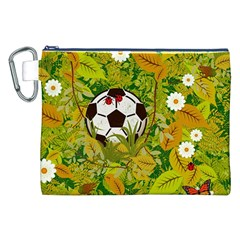 Ball On Forest Floor Canvas Cosmetic Bag (xxl) by linceazul