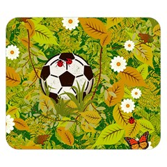 Ball On Forest Floor Double Sided Flano Blanket (small)  by linceazul