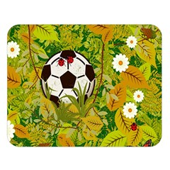 Ball On Forest Floor Double Sided Flano Blanket (large)  by linceazul