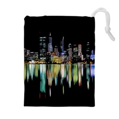 City Panorama Drawstring Pouches (extra Large) by Valentinaart