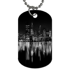 City Panorama Dog Tag (two Sides) by Valentinaart