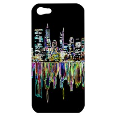 City Panorama Apple Iphone 5 Hardshell Case by Valentinaart
