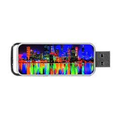 City Panorama Portable Usb Flash (two Sides) by Valentinaart