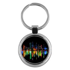 City Panorama Key Chains (round)  by Valentinaart
