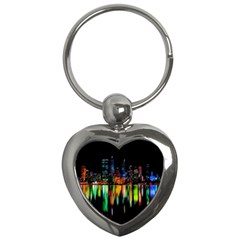 City Panorama Key Chains (heart)  by Valentinaart