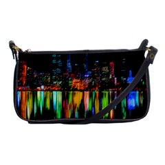 City Panorama Shoulder Clutch Bags by Valentinaart