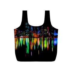 City Panorama Full Print Recycle Bags (s)  by Valentinaart