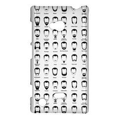 Beard Types Pattern Nokia Lumia 720 by Valentinaart