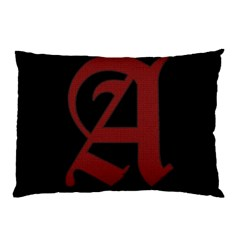 The Scarlet Letter Pillow Case by Valentinaart
