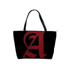 The Scarlet Letter Shoulder Handbags by Valentinaart