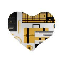Web Design Mockup Web Developer Standard 16  Premium Heart Shape Cushions by Nexatart