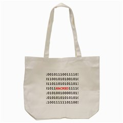 Binary Black Cyber Data Digits Tote Bag (cream) by Nexatart