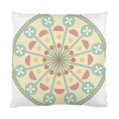 Blue Circle Ornaments Standard Cushion Case (one Side) by Nexatart