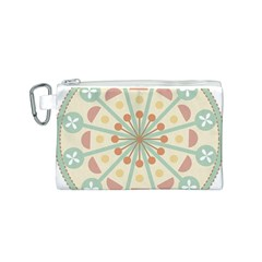 Blue Circle Ornaments Canvas Cosmetic Bag (s) by Nexatart