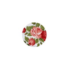Flower Rose Pink Red Romantic 1  Mini Buttons by Nexatart