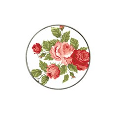 Flower Rose Pink Red Romantic Hat Clip Ball Marker by Nexatart