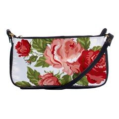 Flower Rose Pink Red Romantic Shoulder Clutch Bags by Nexatart
