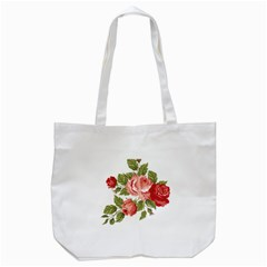 Flower Rose Pink Red Romantic Tote Bag (white) by Nexatart