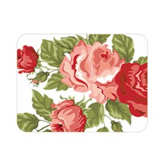 Flower Rose Pink Red Romantic Double Sided Flano Blanket (mini)  by Nexatart