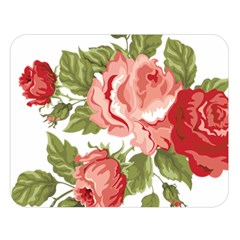 Flower Rose Pink Red Romantic Double Sided Flano Blanket (large)  by Nexatart
