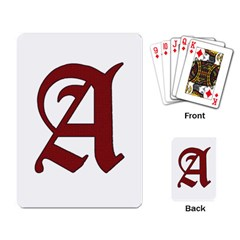 The Scarlet Letter Playing Card by Valentinaart
