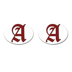The Scarlet Letter Cufflinks (oval) by Valentinaart