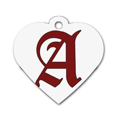 The Scarlet Letter Dog Tag Heart (one Side) by Valentinaart
