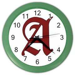 The Scarlet Letter Color Wall Clocks by Valentinaart