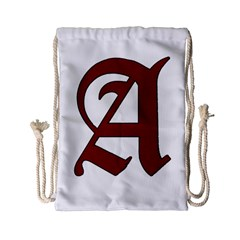 The Scarlet Letter Drawstring Bag (small) by Valentinaart