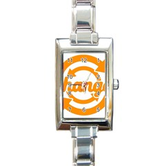 Think Switch Arrows Rethinking Rectangle Italian Charm Watch by Nexatart