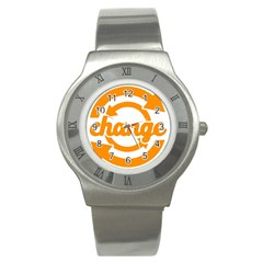 Think Switch Arrows Rethinking Stainless Steel Watch by Nexatart