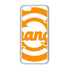 Think Switch Arrows Rethinking Apple Iphone 5c Seamless Case (white) by Nexatart