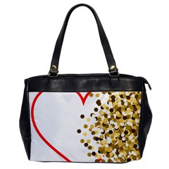 Heart Transparent Background Love Office Handbags by Nexatart