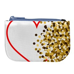 Heart Transparent Background Love Large Coin Purse