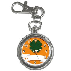 St Patricks Day Ireland Clover Key Chain Watches by Nexatart
