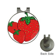 Strawberry Holidays Fragaria Vesca Hat Clips With Golf Markers by Nexatart
