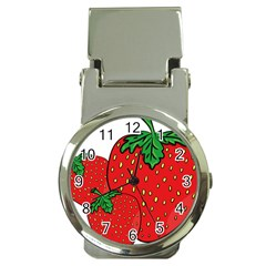 Strawberry Holidays Fragaria Vesca Money Clip Watches by Nexatart