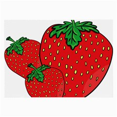 Strawberry Holidays Fragaria Vesca Large Glasses Cloth (2 Side) by Nexatart