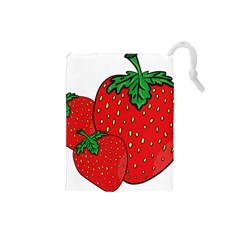 Strawberry Holidays Fragaria Vesca Drawstring Pouches (small)  by Nexatart