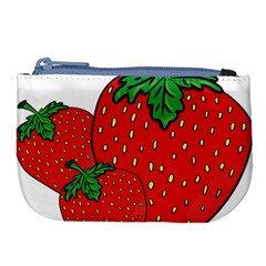 Strawberry Holidays Fragaria Vesca Large Coin Purse by Nexatart