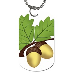 Acorn Hazelnuts Nature Forest Dog Tag (two Sides) by Nexatart