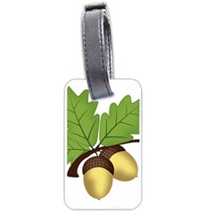 Acorn Hazelnuts Nature Forest Luggage Tags (one Side)  by Nexatart