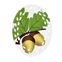 Acorn Hazelnuts Nature Forest Ornament (oval Filigree) by Nexatart