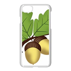 Acorn Hazelnuts Nature Forest Apple Iphone 7 Seamless Case (white) by Nexatart