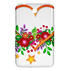 Heart Flowers Sign Samsung Galaxy Tab 3 (7 ) P3200 Hardshell Case