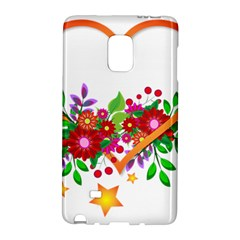 Heart Flowers Sign Galaxy Note Edge by Nexatart