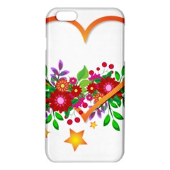 Heart Flowers Sign Iphone 6 Plus/6s Plus Tpu Case by Nexatart