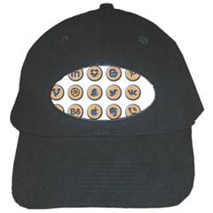 Social Media Icon Icons Social Black Cap by Nexatart