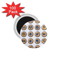 Social Media Icon Icons Social 1 75  Magnets (100 Pack)  by Nexatart