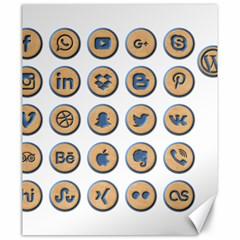 Social Media Icon Icons Social Canvas 20  X 24   by Nexatart